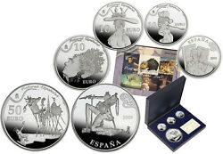 Spain 2009. Set 3x10andeuro 1x50andeuro Painters Set- Salvador Dali Silver Coin - Very Rare