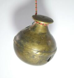 Antique India Hand Crafted Fine Bronze Cow Bell Home Décor Collective. G70-98 Us