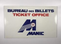 Vintage Nasl Montreal Manic Olympic Stadium Game Used Ticket Office Sign 1981-83
