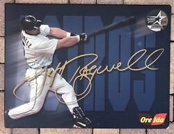 Olympic Stadium Montreal Expos Game Used Visiting Clubhouse Jeff Bagwell Poster