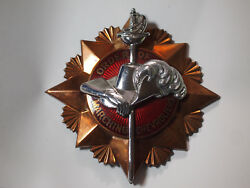 Chevrolet Order Of Marching Chevroliers Grille Badge Ww Vintage Military 1930s