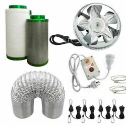 8 Inch Hydroponic Ventilation System - Carbon Filter Fan Ducting Clamps + More