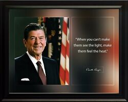 Ronald Reagan When You Can't Poster Print Picture Or Framed Wall Art