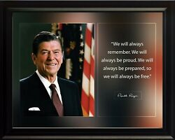 Ronald Reagan We Will Always Remember Poster Print Picture Or Framed Wall Art