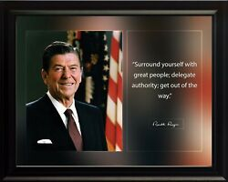Ronald Reagan Surround Yourself Poster Print Picture Or Framed Wall Art