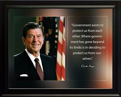 Ronald Reagan Government Exists Poster Print Picture Or Framed Wall Art
