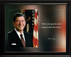 Ronald Reagan Life Is One Grand Poster Print Picture Or Framed Wall Art