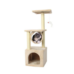 36#x27;#x27; Cat Tree Scratching Tower Post Condo Pet House Scratcher Furniture Bed New