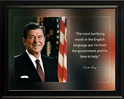 Ronald Reagan The Most Terrifying Poster Print Picture Or Framed Wall Art