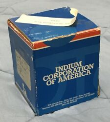 1.5 Pounds Indium Corporation 97in 3ag 97 Indium 3 Silver Eutectic Solder .030