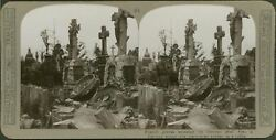 French Graves - A German Sniper Was Discovered Hidden In A Coffin - Stereoview