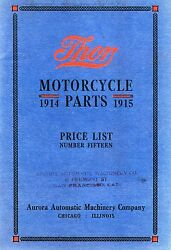 1914-1915 Thor Motorcycle Parts Book In .pdf Format On Cd Antique Reproduction
