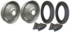 Front Rim And Tire Set Ferguson To20, To30, To35, Te20, Tea20, 40 Tractor