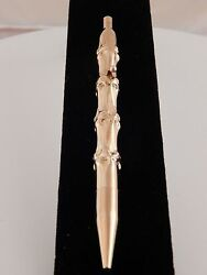 High End Collectible Designer And Co Ink Pen Solid 14k Gold Bamboo Vintage
