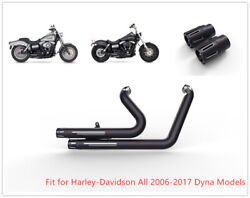 Us Pipes Muffler Exhaust Set For Harley Dyna 2012 13 14 2016 Switch Back Fld M2