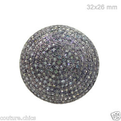 Natural 5.10 Ct Diamond Pave Vintage Style 925 Sterling Silver Dome Ring Jewelry