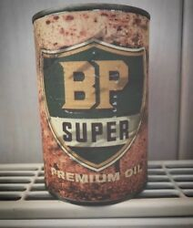 Bp Motor Oil Tin Cans Replica Rusty Mens Gift Man Father Vintage For Him Gas