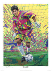 Jorge Campos Soccer Art Print - Large Artistand039s Proof Edition