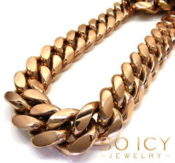 Mens 10k Rose Solid Gold Miami Kilo Thick Chain 1075 Grams 30