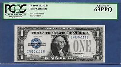Key Note 1928d  1  ♚♚ Silver Certificate ♚♚ Pcgs Ch New 63 Ppq