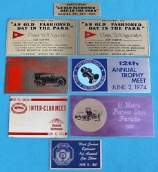 8 Historical Vehicle California Car Club Show Plaques 60's 70's 80's Model A