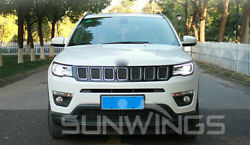 For Jeep Compass Headlights assembly Bi-Xenon Lens Double Beam HID KIT 2018