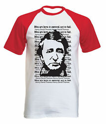 HENRY DAVID THOREAU MEN QUOTE - NEW COTTON BASEBALL TSHIRT ALL SIZES $20.86