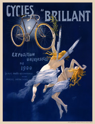 Cycles Brillant Vintage Bicycle Poster Print By H Grey - Cycling