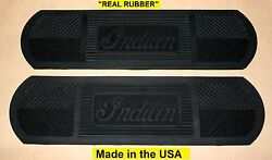 Indian Chief Motorcycle Footboard Mat Set Real Rubber - Antique - Vintage