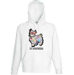 Yorkshire terrier 2 - my bodyguard c - NEW COTTON WHITE HOODIE