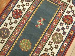 Antique Caucasian Talish Rug Size 3and0391and039and039x6and039