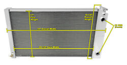 3 Row Ls Conv Double Pass Dr Radiator For 68-77 El Camino W 1.25/1.50 Fittings