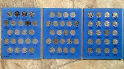 Complete 1913 - 1938 P D And S Indian / Buffalo Nickels 64 Coins In Whitman Book