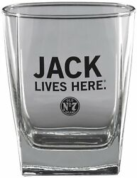 Jack Daniel's Dof Jack Lives Here Double Old Fashioned Glass, Made In Germany