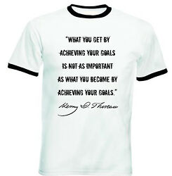 HENRY DAVID THOREAU - NEW BLACK RINGER COTTON TSHIRT