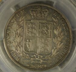 Great Britain Uk 1842 1/2 Crown Pcgs Au Details Scarce