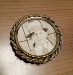 Antique Badge Brass Pin Back Private Detective Authentic Pinkerton Gangster A+