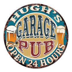 Cppo-0254 Hughand039s Garage Pub Chic Sign Fatherand039s Day Valentine Christmas Gift