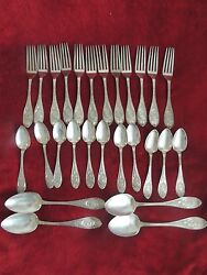1867 Lot Antique Silverplate Medallion Roman Etruscan A1 Hc Reed Jr And Co. Spoon