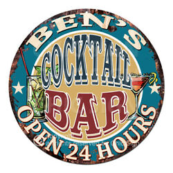 Cpco-0212 Ben's Cocktail Bar Tin Sign Valentine Father's Day Christmas Gift