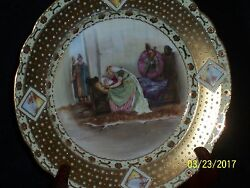 E.s. Prussia Plate Authenticated Rare Decoration Wide Gold Tapestry Border