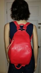 Red Leather Backpack Purse for Women Stylish College School Mbaobao Nana $275.00