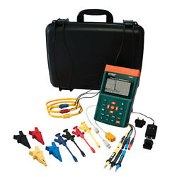 Extech Pq3350-1 Power Quality Meter With 1200 A Flex Clamp