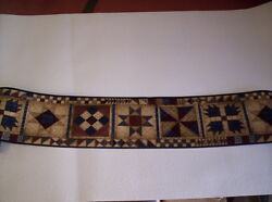 COUNTRY PATCHWORK QUILT PATTERN PREPASTED WALLPAPER BORDER # HH2815 2B