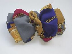 Lovely Multi Colored With a Royal Design Hair Bow 7