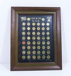 Lincoln Cent Collection Framed Coin Collector Quality Framed Set