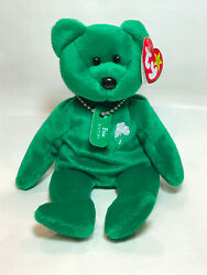 Ty Beanie Babies Erin Rare 5th Gen. Swing Tag And 6th Gen. Tush Tag With Errors