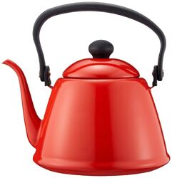 New Noda Horo Enamel Ware Drip Kettle Ii Red Dk-200 Made In Japan With Tracking
