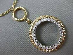 Estate .50ct Diamond 14kt Two Tone Gold Circle Of Life Floating Lariat Necklace