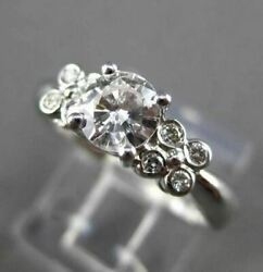 Estate .56ct Diamond 14kt White Gold 3d Floral Butterfly Engagement Ring 1216